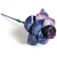 Blue Tie-Dye Duct Tape Rose by DuckTape-Rose