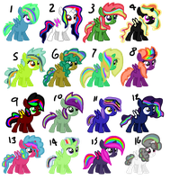 Rainbow Maned Alicorn Adopts OPEN by Rabbidsquierrel