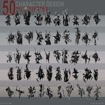 50 Silhouttes of Character by lucachirivi