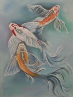 Koi in Oil by CMTorrez