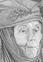 LADY OLENNA TYRELL Game of Thrones ACEO sketch by art-hack