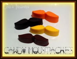 Candy Moustaches! by gertygetsgangster