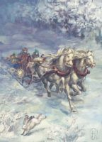 Sleigh ride by Victoria-Poloniae
