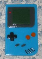 Blue Game Boy made of glass by T95Master