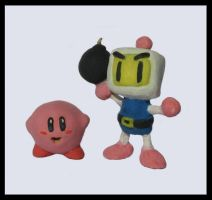 Bomberman and Kirby by Fastitocalon