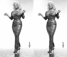 Jayne Mansfield tight gown by 3dpinup