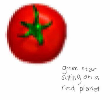 green star red planet by tomatopao