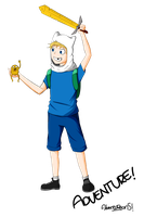 Finn the human and Jake the dog by reonstyleone