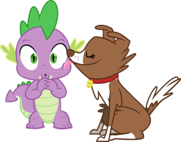 Winona Licking Spike by masemj