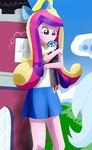 GNT Princess Cadance hugging Shining Armor by Riadorana