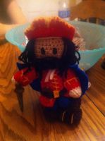 Crochet Captain Morgan by alillama88