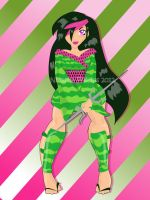 Commish Prt 3_ Watermelon Ninja by Tanis711