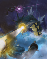 [Battle City] Gyarados vs Metang