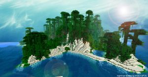 Minecraft - Island - Wallpaper by CyberMiez