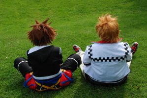 Roxas and Sora - Friends.. by Millahwood