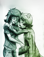 Nepeta and Terezi by ScarletMaid