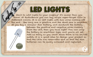 Cosplay Tip 32 - LED Lights by Bllacksheep