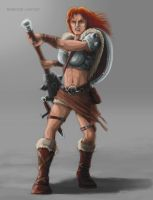 BARBARIAN WOMAN by Shafiqur