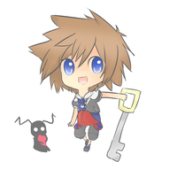 Mini Chibi Sora by RibbonDrop
