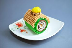 Chestnut Green Tea Cake by Highwaystarr