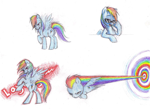 Dashie Doodles by FlutterDashWhore