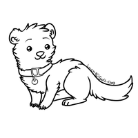 Ferret Lineart by RegallyFlawed