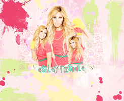 Ashley Tisdale colorful by micamoneo