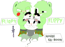 Paper to Digital: Flippy X Mouse ka-boom(Not mine) by KelvinTang
