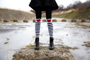 I Heart Socks by A-Glass-Brightly
