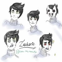 Zacharie expressions by Chibi-MsHollowfox