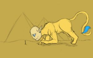 Playful Sphinx by WandererEclipse