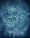 Celtic Wolf Knotwork by brigidashwood
