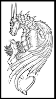 Dragon and otter in love by Mutabi