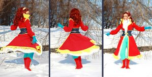 ElfQuest: Leetah in motion (winter travel costume) by ElenaLeetah