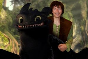 Toothless and I are buddies by Super3dcow