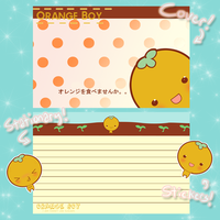 Orange Boy Stationary by Marzipanapple