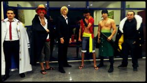 Mugiwara Trio One Piece Cosplay Team by JckBlade