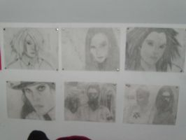 My Wall of Bad Drawings by VilleVamp