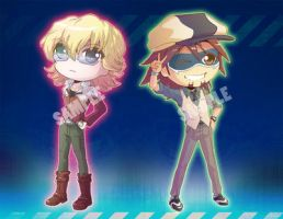 Tiger and Bunny Chibis!!!! by tinysaucepan
