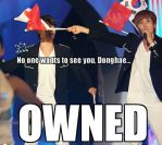 Donghae got OWNED by xXWilted-RoseXx