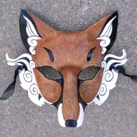 Japanese Fox Mask...finish by merimask