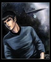 Spock fan Art star trek by OrenMiller