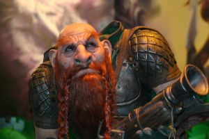 WoW Dwarf Statue by Cradly