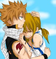 Natsu and Lucy by SpartanA85