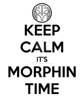 Keep Calm It's Morphin Time (White) by RussJericho23