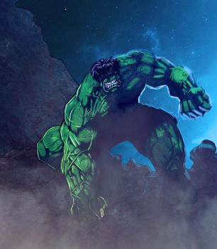 Incredible Hulk by commanderlewis