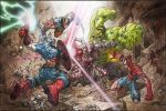 Avengers vs Ultron by MinohKim