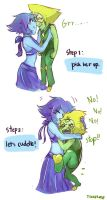 How to cuddle peridot. by Treker402