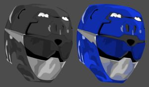 Vector Helmet: Blue GO BUSTERS layers by maddaluther