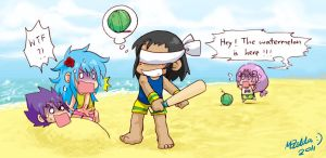 Chibi Beach Party by MZ15
